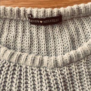 brandy melville baby blue knit sweater